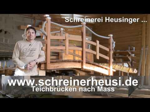 Teichbrücke und Teichbruecken von Schreinerei Heusinger - Vorstellung
