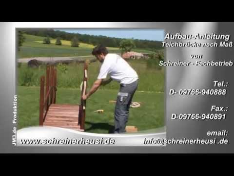 Teichbruecke selber bauen - Bauanleitung von Bauschreinerei Heusinger