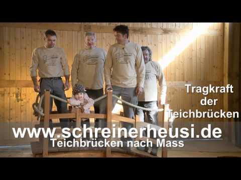 Teichbrücke 8 tragkraft ohne frau